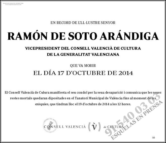 Ramón de Soto Arándiga